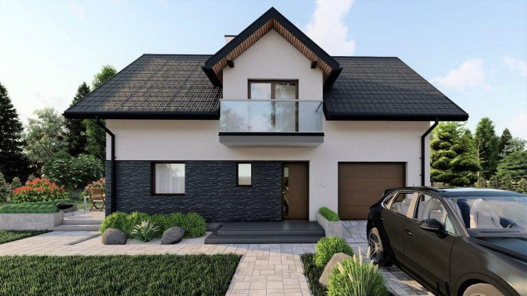 budynki mieszkalne jednorodzinne wizualizacja front