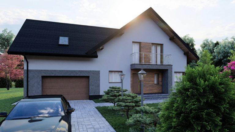 mały dom projekt wizualizacja