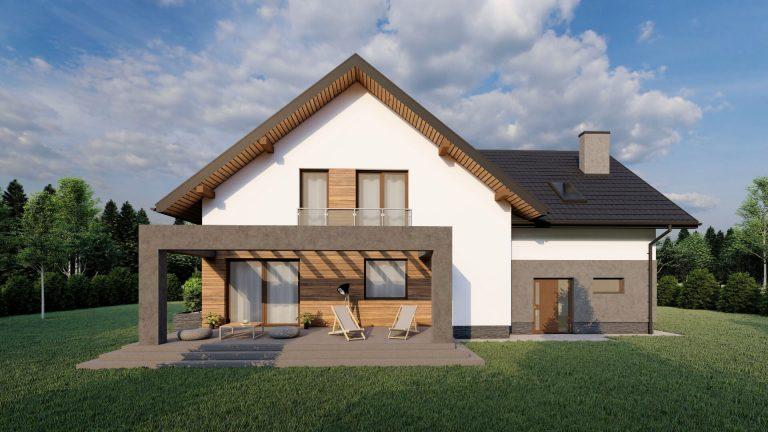 wizualizacja mały dom proejkt